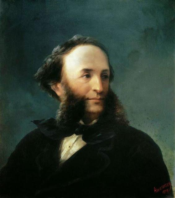 http://en.wikipedia.org/wiki/File:Aivazovsky_-_Self-portrait_1874.jpg
