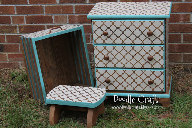 All Demo Stenciling And Staining