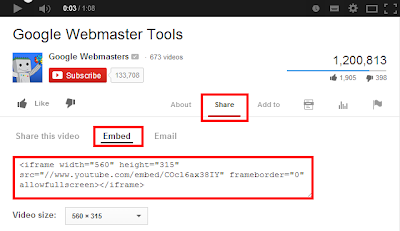 Cara Memasang Video Youtube di Blog Langsung Putar Otomatis
