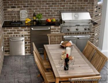 desain dapur semi terbuka