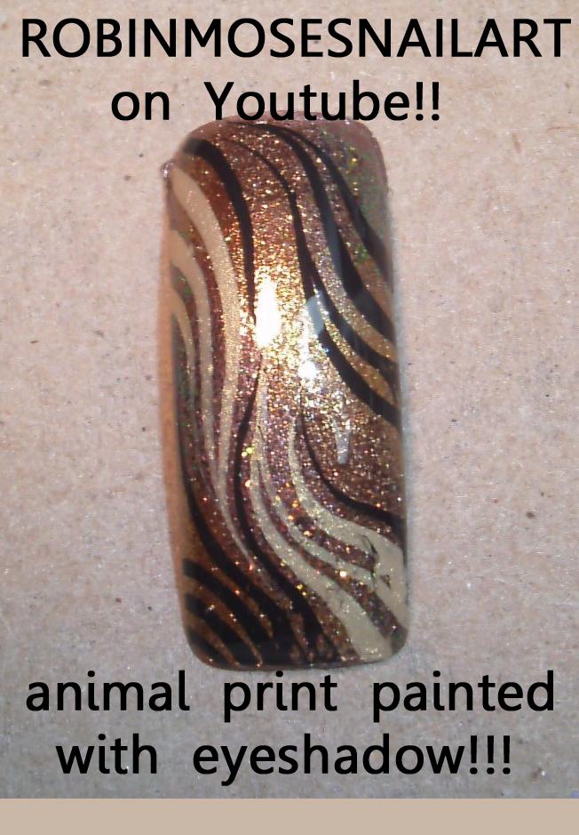 Nail Art by Robin Moses: mac eyeshadow nail, mac reflects pink, mac ...