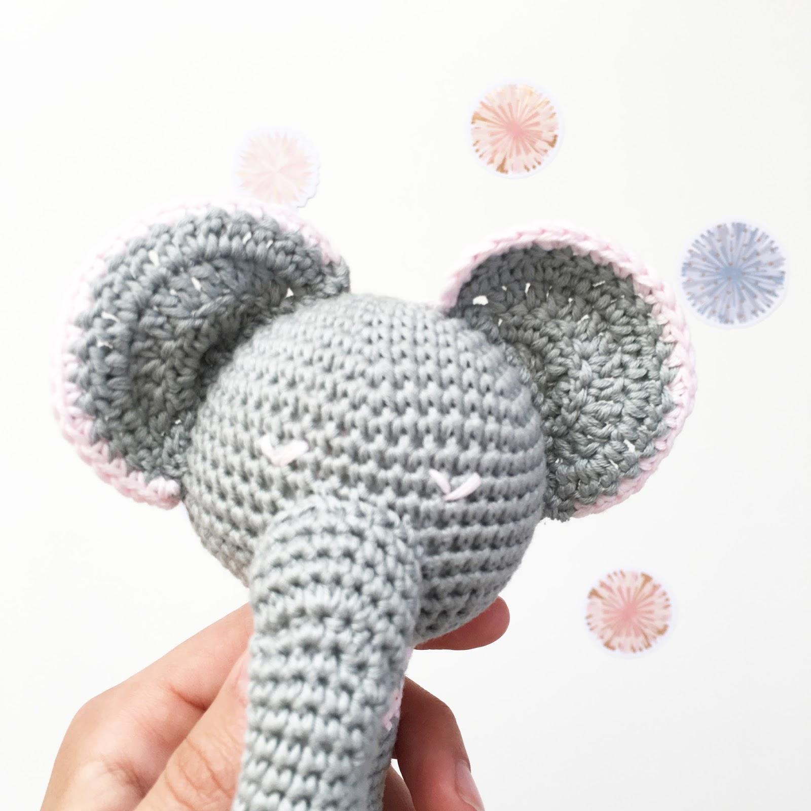 El blog de Dmc: Patrón de ganchillo gratis: Mito, el elefante de ...