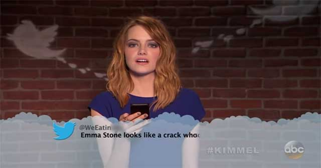 Watch Emma Stone, Ryan Gosling And More Get Roasted In Oscars Mean Tweets.