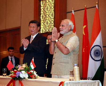 Prime Minister Modi with Chinese President Mr. Xi Jinping