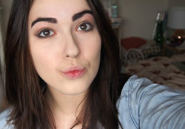 Eyeshadow on face