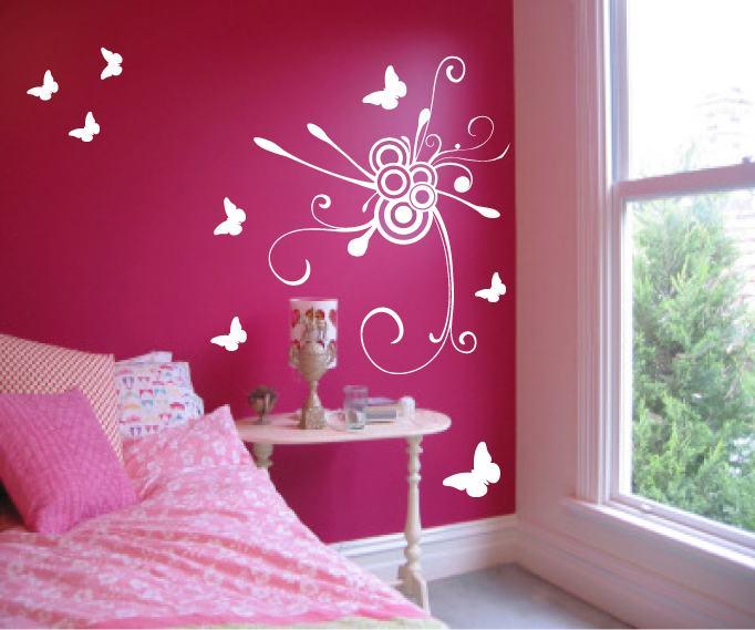 chambres coucher roses pour les filles d cor de maison d coration chambre. Black Bedroom Furniture Sets. Home Design Ideas