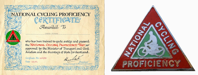 Cycling Proficiency Test: Certificate and Badge