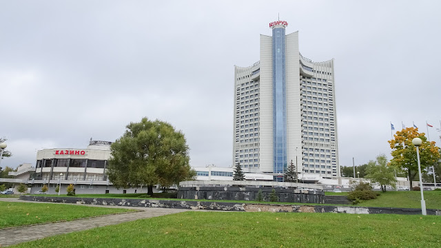 Is attached to the Hotel Belarus
