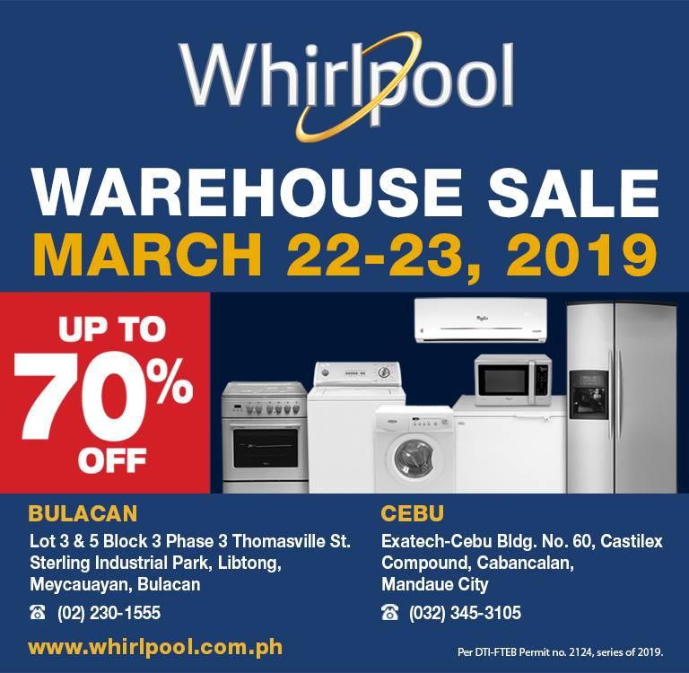 Manila Shopper: Whirlpool, Fujidenzo Warehouse Sale in Bulacan