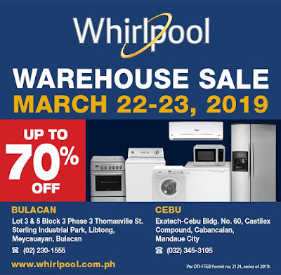 whirlpool appliances warehouse sale in bulacan and cebu