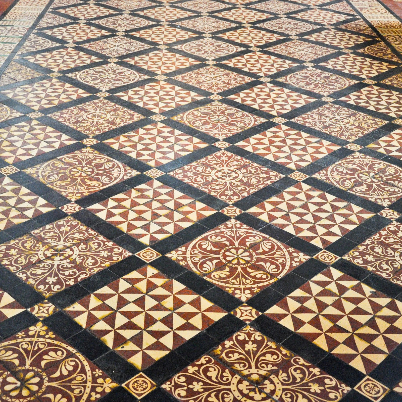 A close-up of the floor, St. Albans Cathedral, St. Albans, Herts, England