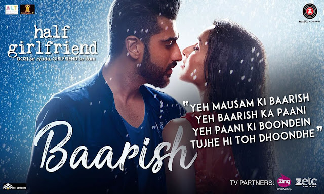 Baarish Lyrics - Arjun K & Shraddha | Half Girlfriend