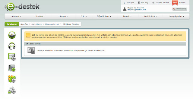 blogger domain yönlendirme ayarları