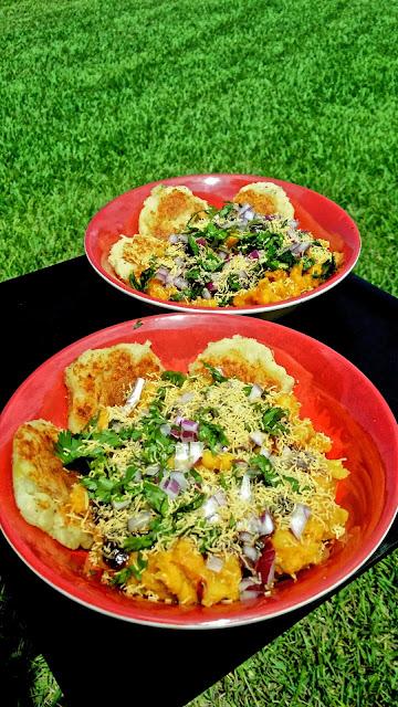 Ragda Pattice Bombay Isshtyle!Appetizers & Snacks