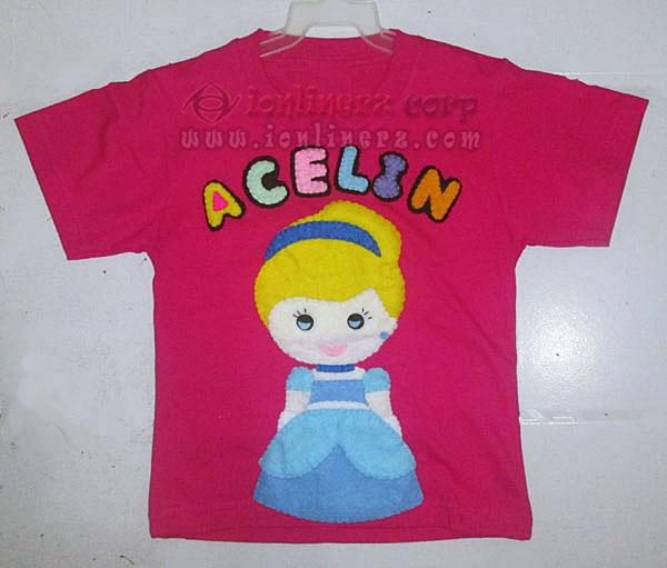 Kaos / Baju Flanel Anak Karakter Kartun Cinderella