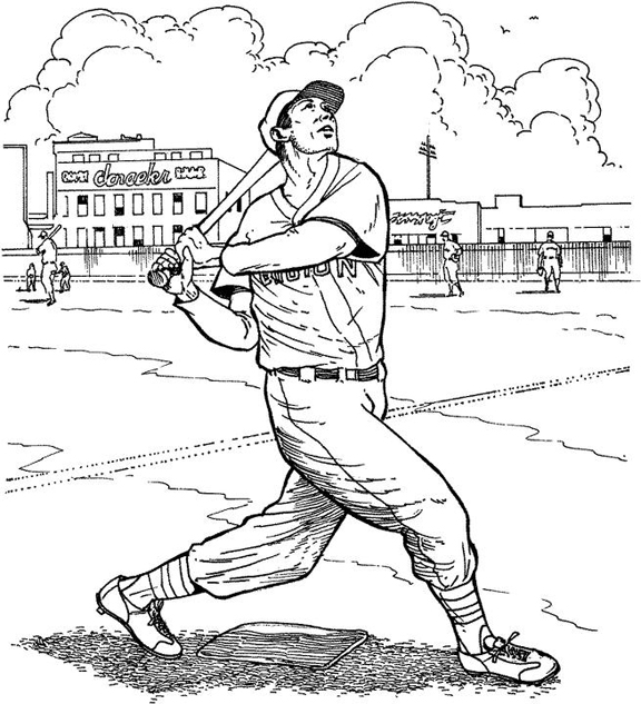 Coloring pages baseball coloring pages free and printable for Mets coloring pages