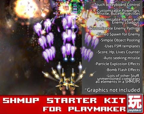 RELEASE] Shmup Starter Kit for PlayMaker 1 7 4b | Free