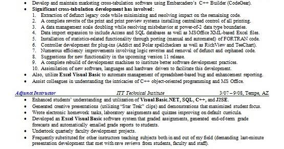 Software Developer Resume Layout Format In Word Free Download