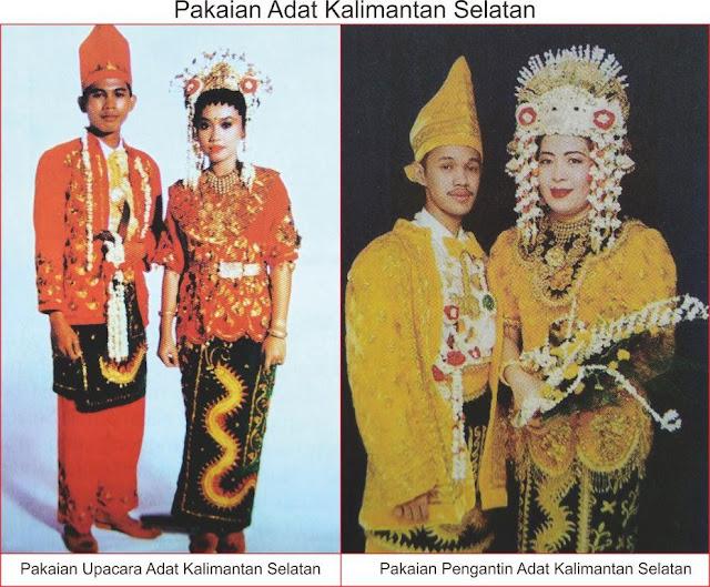 Pakaian Adat Kalimantan Selatan Lengkap Gambar dan
