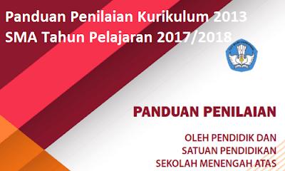 Panduan Penilaian Kurikulum 2013 SMA 2018/2019