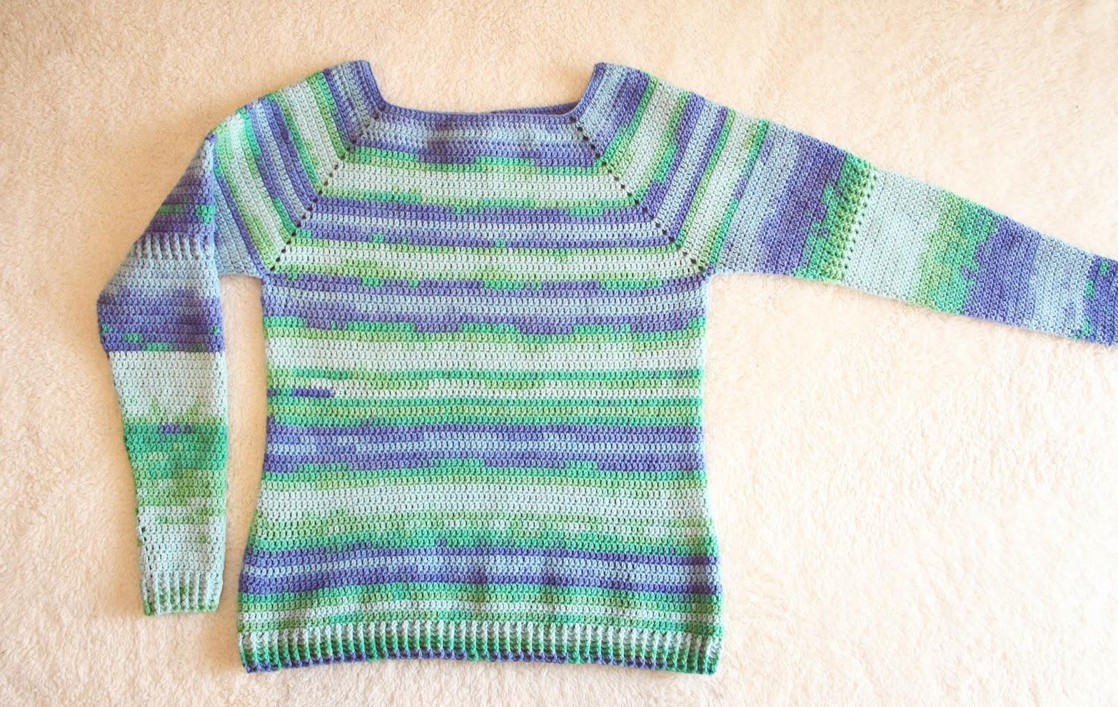Jersey Multicolor Con Manga Ranglan Crochet Pretty Anais