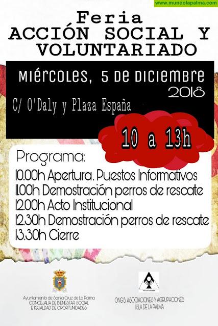 La XXI Feria de Acción Social y Voluntariado congrega en Santa Cruz de La Palma a 28 entidades comprometidas con la solidaridad