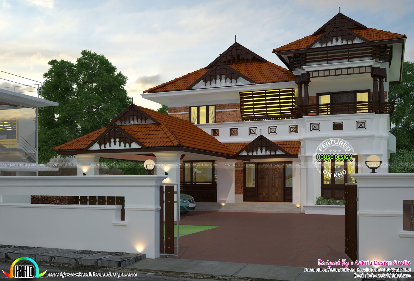 Modern Style Traditional 5 Bedroom Architecture Home