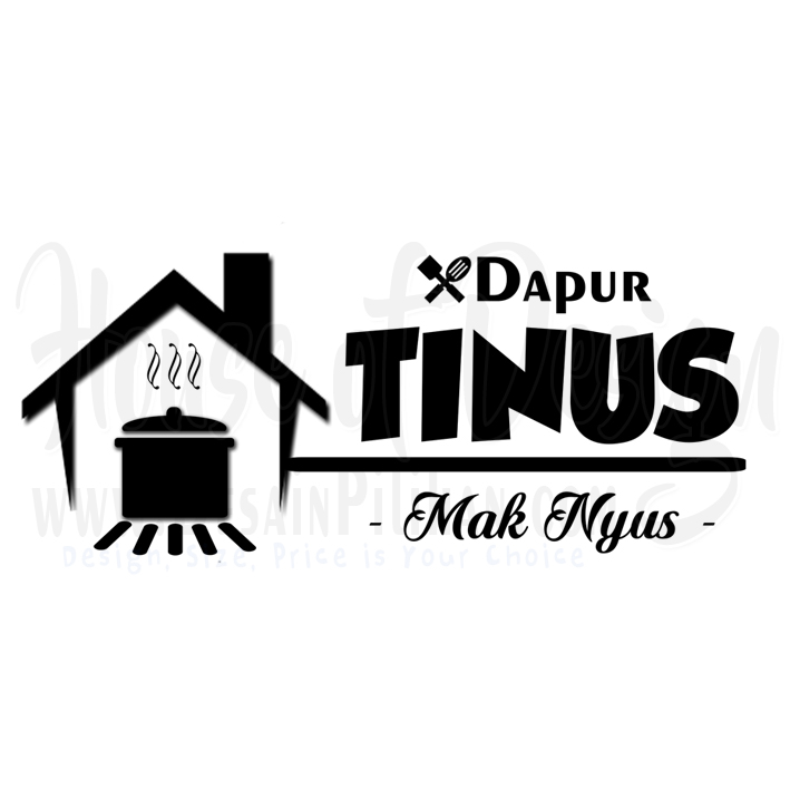 DESIGN LOGO RUMAH MAKAN DAPUR TINUS