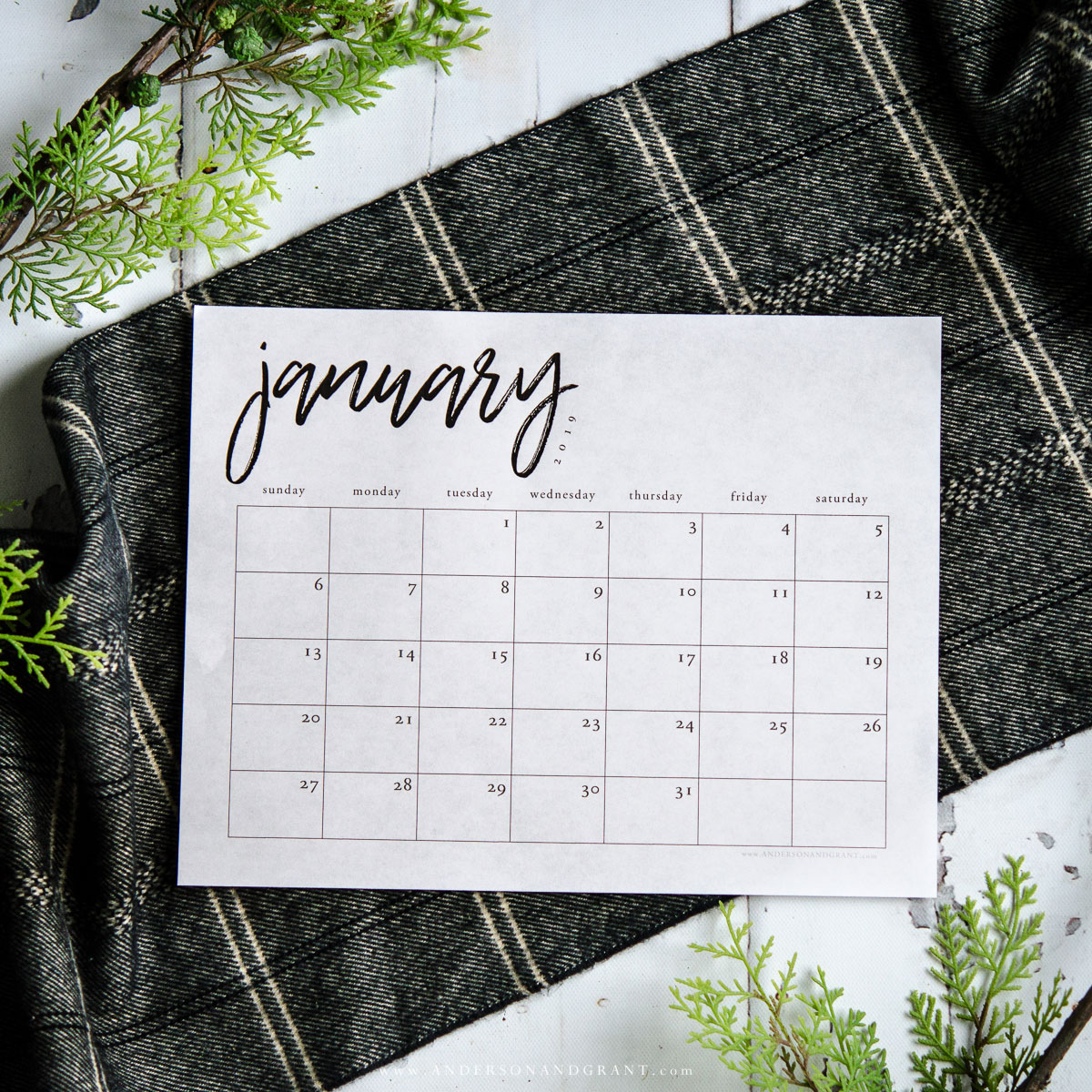 Free Printables for January
