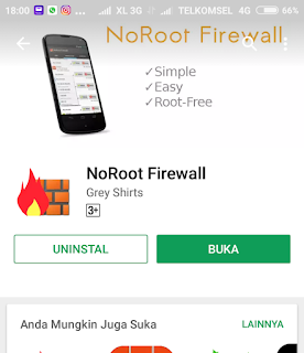 Menghilangkan Iklan Pada Android NoRoot Firewall