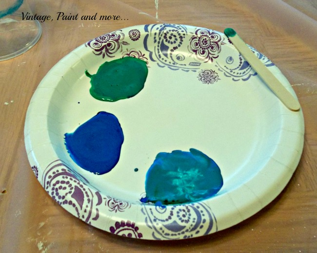 Vintage, Paint and more... mod podge and food coloring used to create a faux sea glass effect