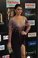 Hansika Motwani in Glittering Deep Neck Transparent Leg Split Purple Gown at IIFA Utsavam Awards 10.JPG