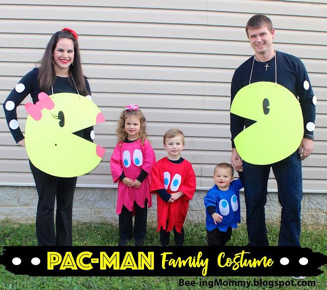 family costume theme, DIY Pac-man Family Costume, DIY Pac-man Costume, Halloween costume, DIY Halloween Costume, costume, costumes, easy costume, 1980's costume, 80's costume, pacman ghost costume, Inky, Pinky, Blinky, family costume, family costume ideas, halloween family costume,  Pac-man, Ms. Pac-man, Ms. Pacman, no-sew halloween costume
