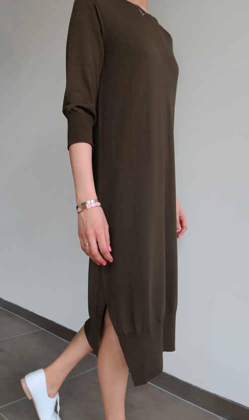 Simple Side Slit Dress