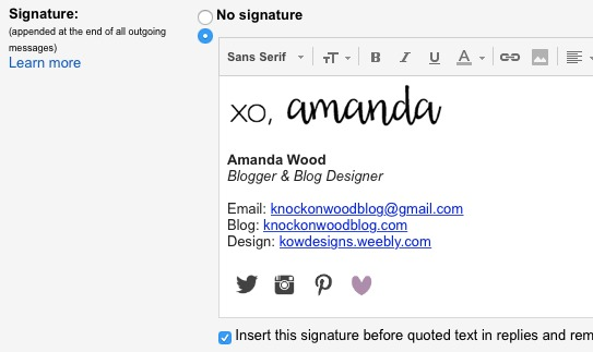 how to create an email signature in outlook web app