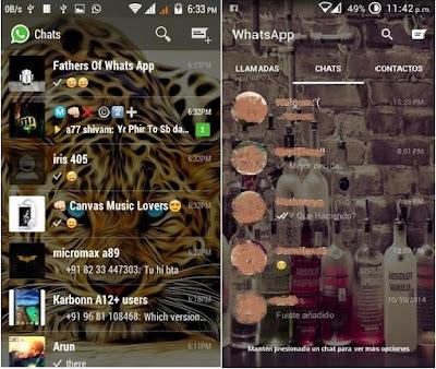 Tampilan Aplikasi WhatsApp Mod Transparan