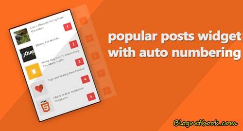 most popular post widgets design
