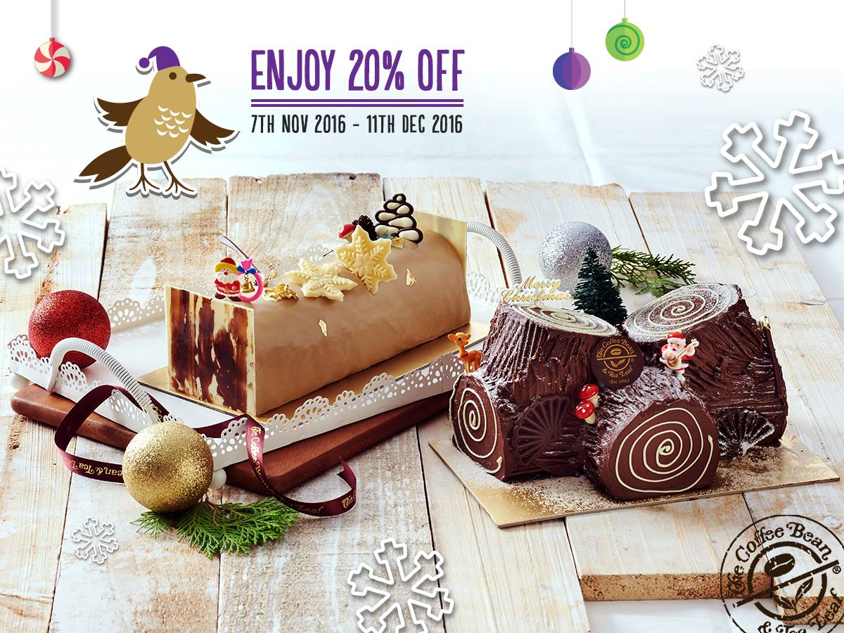 The Coffee Bean & Tea Leaf 20% Off Christmas Cakes ...