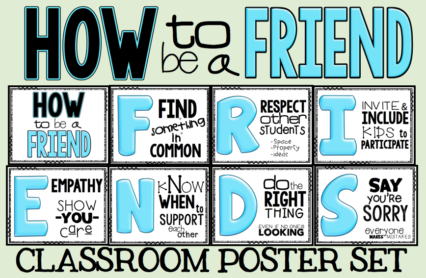 The free poster set is here: HOW TO BE A FRIEND