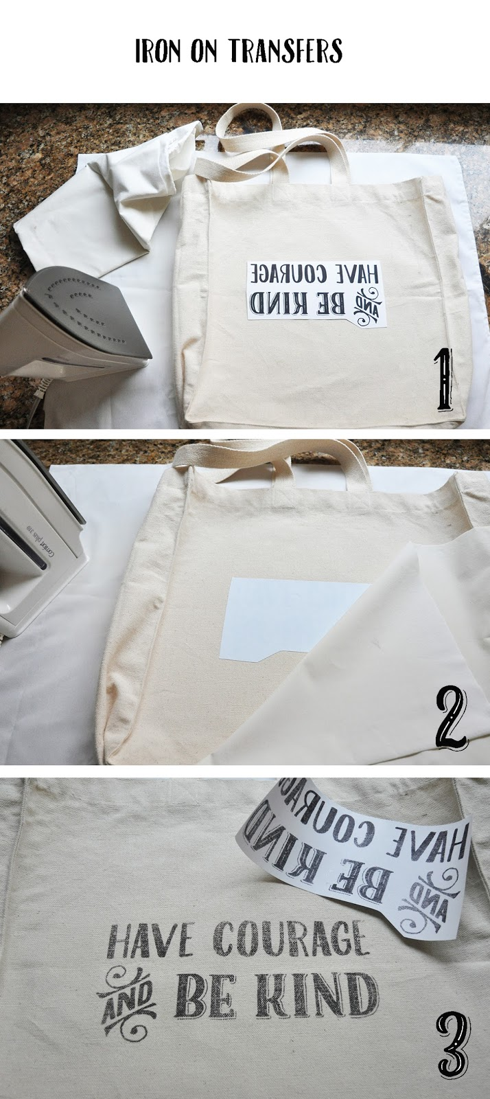 diy tote bags - canvas bags & iron on transfers | Lorrie Everitt Studio