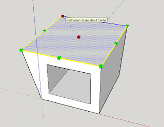 tutorial sketchup Scale Tool