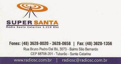 RÁDIO SANTA CATARINA AM = TUBARÃO - SC