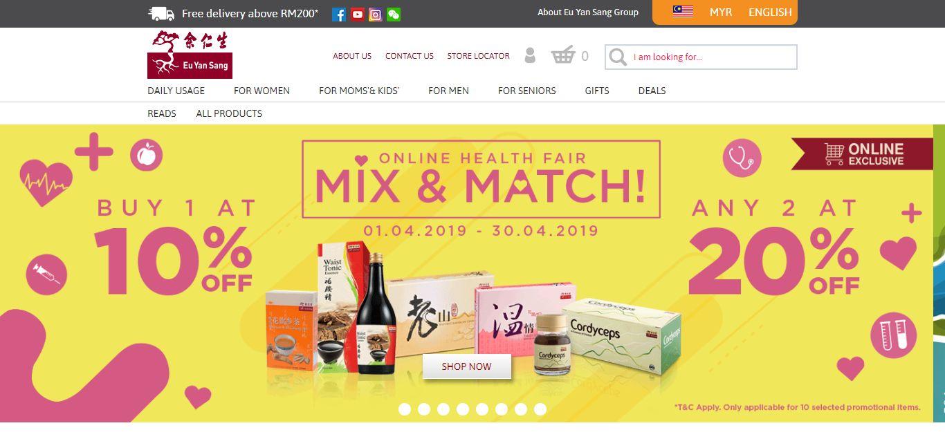 Eu Yan Sang e-commerce