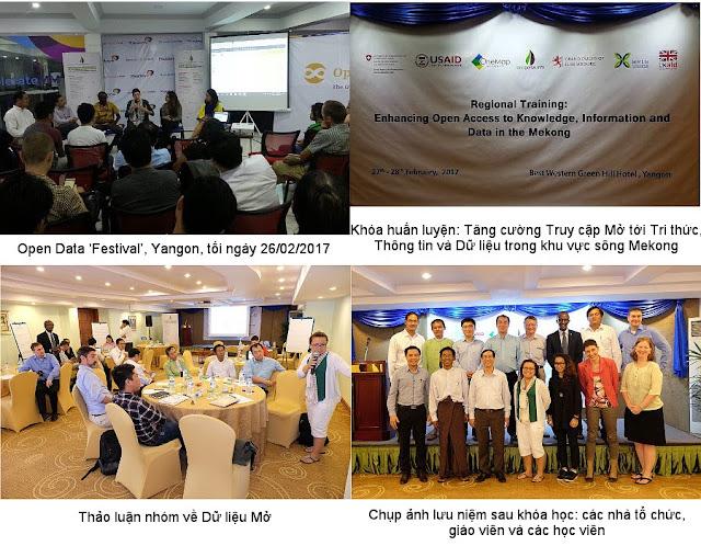 Khóa huấn luyện: Tăng cường truy cập mở tới tri thức, thông tin và dữ liệu khu vực sông Mekong