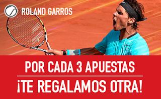 sportium Promo Roland Garros: Por cada 3 apuestas ¡Te damos otra!
