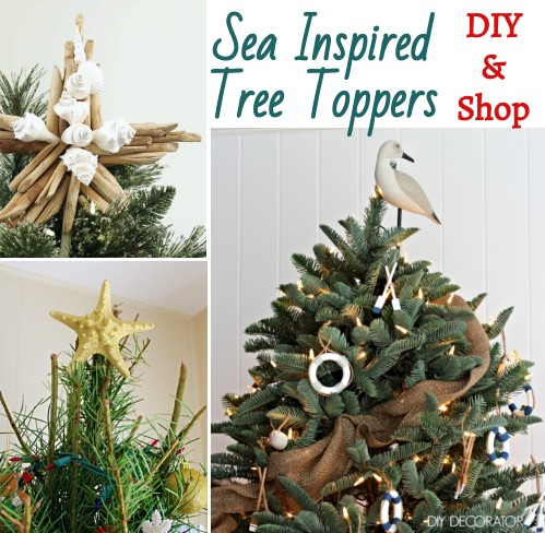 Coastal Christmas Tree Topper Ideas Diy Shop Coastal Decor