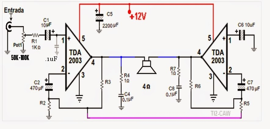 Amateur-built : Awesome 20W TDA2003 bridge amplifier!