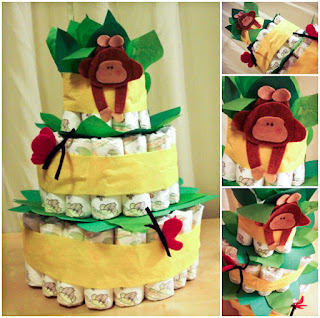 Easy fun baby gift, monkies, jungle baby