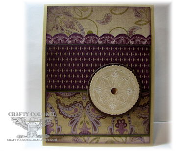 CraftyColonel Donna Nuce for Cards in Envy Challenge Blog, CTMH Sonoma Card