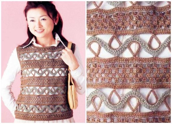 pull, jersey, crochet, motivos ganchillo
